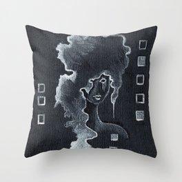 Silvia in Silver Throw Pillow