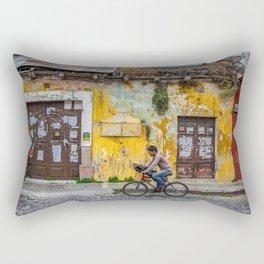 Antigua by bicycle Rectangular Pillow
