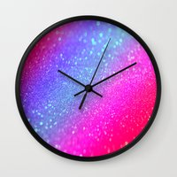 glitter Wall Clocks featuring glitter by haroulita