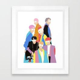 BTS IDOL Hanbok Illustration Framed Art Print