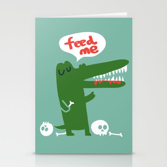 Hungry Hungry Alligator Stationery Cards