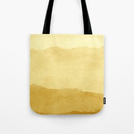 Ombre Waves in Gold Tote Bag