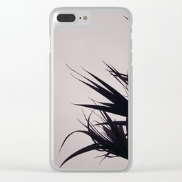 Black leaves Clear iPhone Case