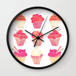 Cupcake Collection – Pink & Cream Palette Wall Clock