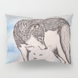 "Northern Lights & ""I Wolves You"" Nights Pillow Sham"