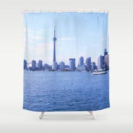 CN Tower Skyline Shower Curtain