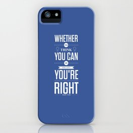 Lab No. 4 - Henry Ford Life Inspirational Typogarphy Quotes Poster iPhone Case