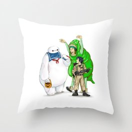 Stay Healthy, Stay Puft Throw Pillow