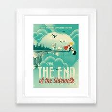 The End of the Sidewalk Framed Art Print