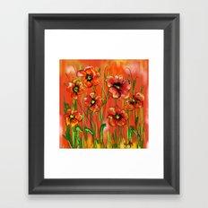 Poppy day Framed Art Print
