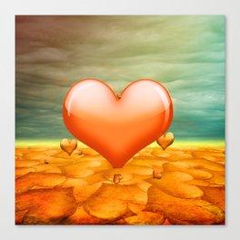 Heartrain Canvas Print