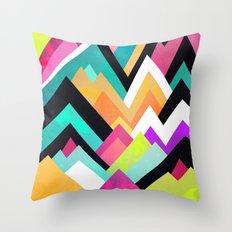 Where colors grow Throw Pillow