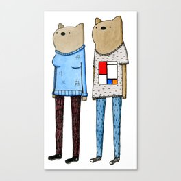 Hipster Wombats Canvas Print