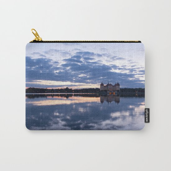 Fairy tale Castle - Fairytale Landscape Lake reflection blue hour on #Society6 Carry-All Pouch