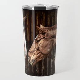 Horses in the Stable Travel Mug