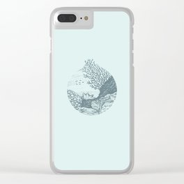 Underwater landscape Clear iPhone Case