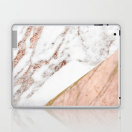 Marble rose gold blended Laptop & iPad Skin