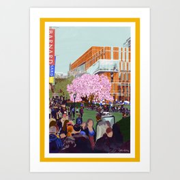 Spring at Barnard College | Barnard Seasons Series Art Print