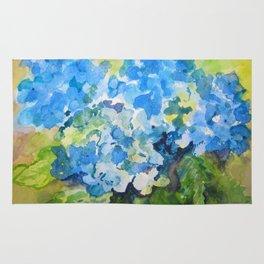 Blue Hydrangeas Rug
