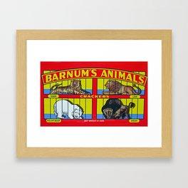 animal crackers Framed Art Print