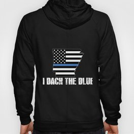 Arkansas Police Appreciation Thin Blue Line I Back The Blue 2 Hoody