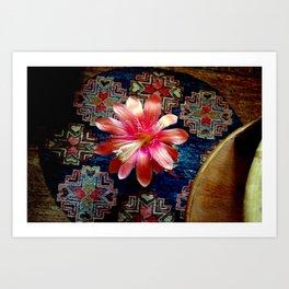 Cactus Flower By Design Art Print