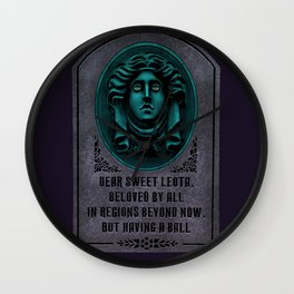 Madame Leota Gravestone Wall Clock