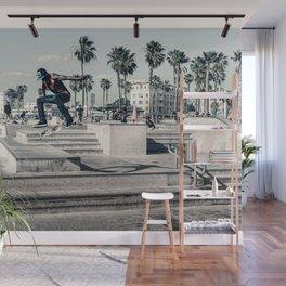 Miami Beach Skatepark Skateboarding poster Skateboarding print photography print Wall Mural
