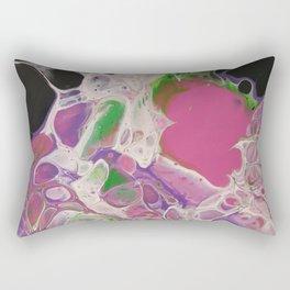 Candyfloss Splat, Acrylic Fluid Art Rectangular Pillow