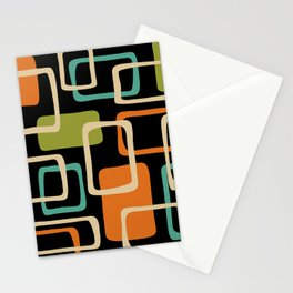 Mid Century Modern Abstract Squares Pattern 420 Stationery Cards