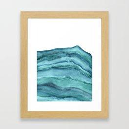 Watercolor Agate - Teal Blue Framed Art Print