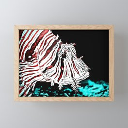 poisonous exotic lionfish va2s Framed Mini Art Print