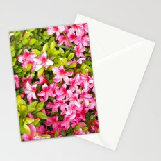 Colorful garden flowers, pink azalea. Floral photography. Stationery Cards