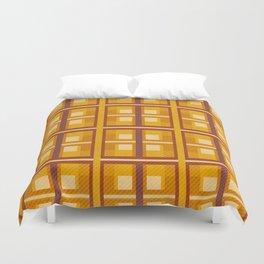 Autumn Gold Plaid Duvet Cover