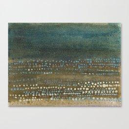 Landscape Dots - Night Canvas Print