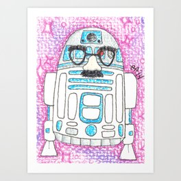 R2D2'S NOT HERE - Color Art Print