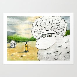 The Prof has a Plan Art Print