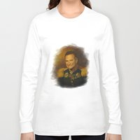 robin williams Long Sleeve T-shirts featuring Robin Williams - replaceface by replaceface