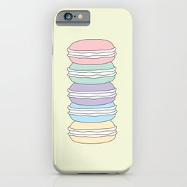 Yummy macaroons iPhone Case