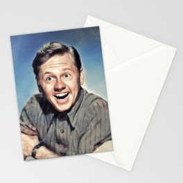 Micky Rooney, Vintage Actor Stationery Cards