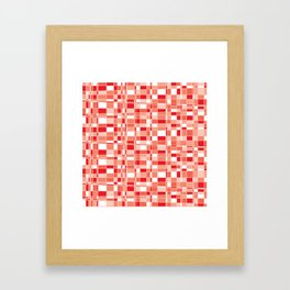 Mod Gingham - Red Framed Art Print