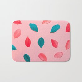 colorful feathers Bath Mat