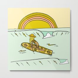 paddle on to new adventures // new year by surfy birdy Metal Print