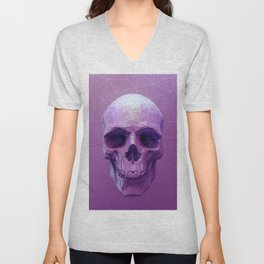 Pink Skull Unisex V-Neck