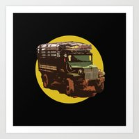 truck Art Prints featuring Truck by Mirko Dessureault