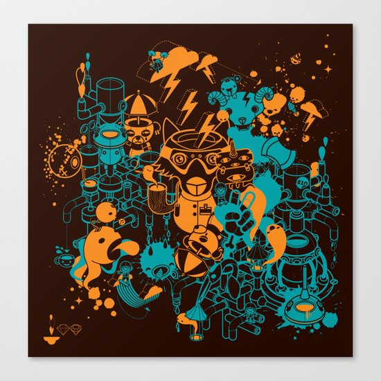 Dream Factory Orange and Blue Canvas Print