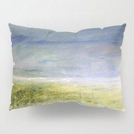 Sea Shore Watercolor Ocean Landscape Nature Art Pillow Sham