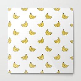 Banana Pattern 1 Metal Print
