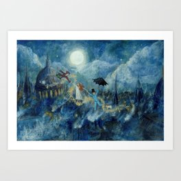 An Awfully Big Adventure - Peter Pan - Nursery Decor Kunstdrucke
