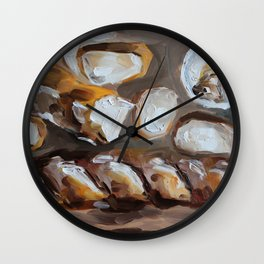Baguette, french bread, du pain, food Wall Clock